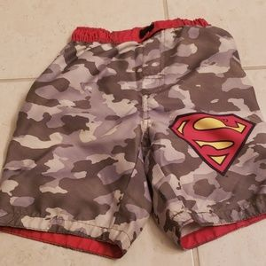 Boys superman swim trunks size 5